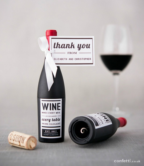 Favour Wine Bottle Shaped Corkscrew Opener In Gift Packaging