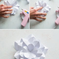Paper Apple Blossom Gluing Together | Confetti.co.uk