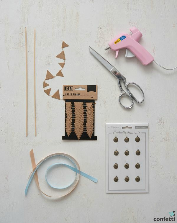 DIY bunting supplies