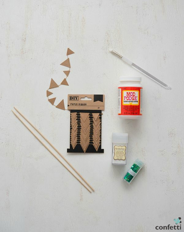 Supplies for DIY bunting