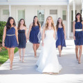 Bridesmaids in blue at Crystal and Giampaolo's Real Wedding | Confetti.co.uk