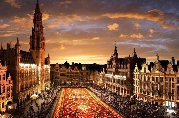 Brussels Grand Place Floral Carpet