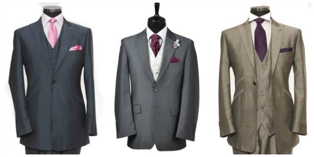 Suits for the groom by Hugh Harris | Confetti.co.uk