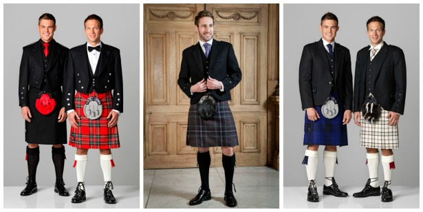Kilts for the groom by Slaters | Confetti.co.uk
