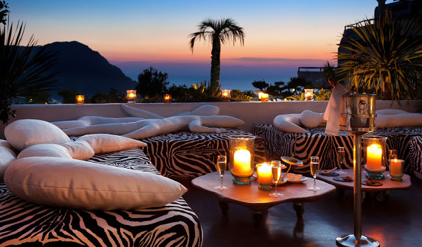 Hotel Hacienda Ibiza Lounge Bar Sunset