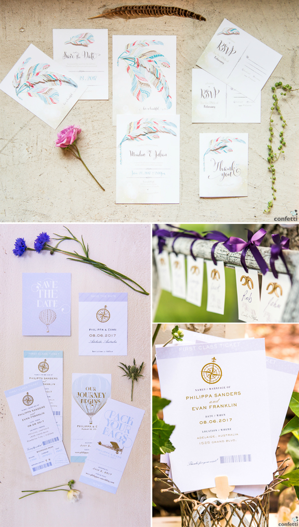 Themed Wedding Stationery | Confetti.co.uk