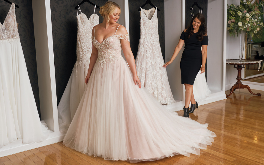 64400e72863 ... consider the 88052 by Justin Alexander. This wedding dress features  delicate shoulder straps for added support and a beautiful blush-hued skirt  – ideal ...