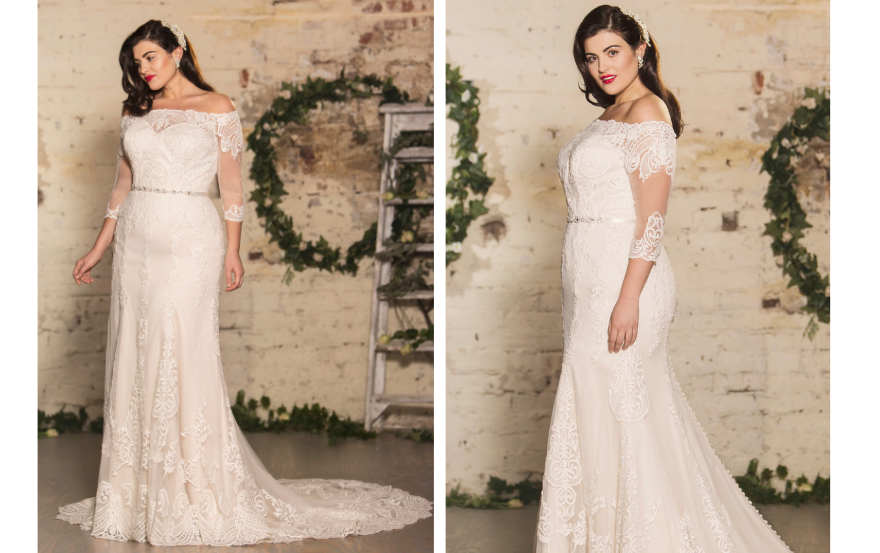 faa7c4a12f6 The Bianca is so romantic – we can t get enough of that off-the-shoulder  neckline and the stylish lace detailing. 88052 – Justin Alexander