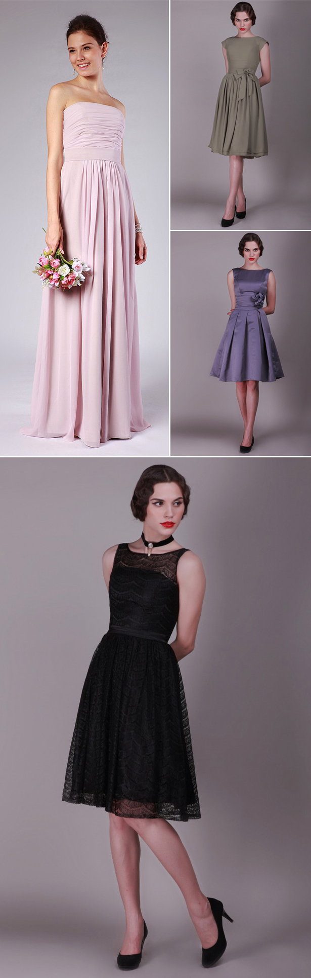 For Her and For Him Bridesmaid Dresses