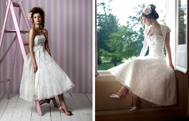 50s Style Wedding Dresses Tea Length Uk