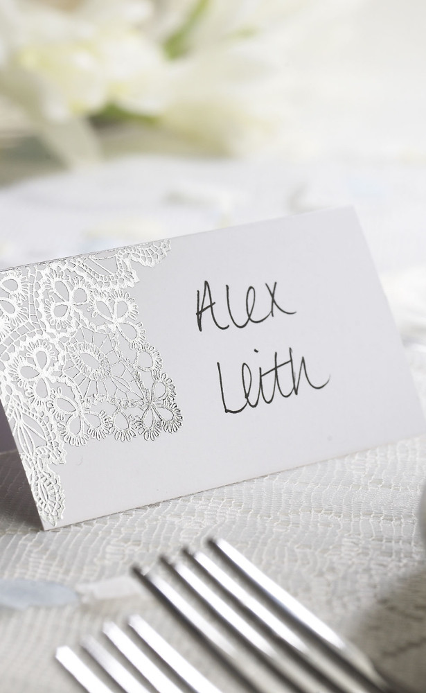 delicate lace place card pack