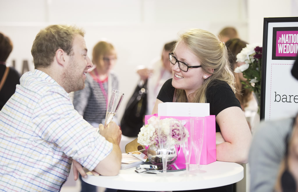 Engaged couple at the National Wedding Show