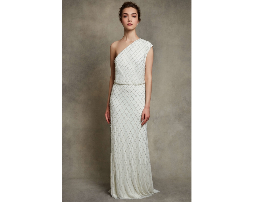 white bridesmaid dresses by motee maids