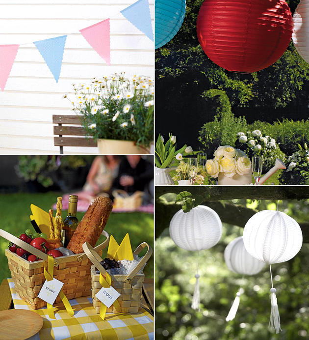 Outdoor Dinner Garden Party Accessories Moodboard