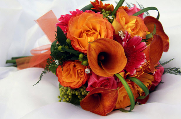 autumn flowers for weddings