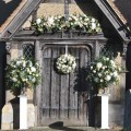 Church door flowers by The Bespoke Florist