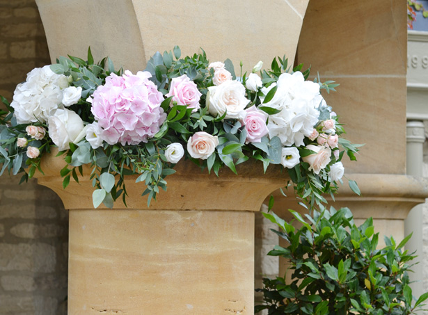 Pale pink hydrangea flowers by The Bespoke Florist