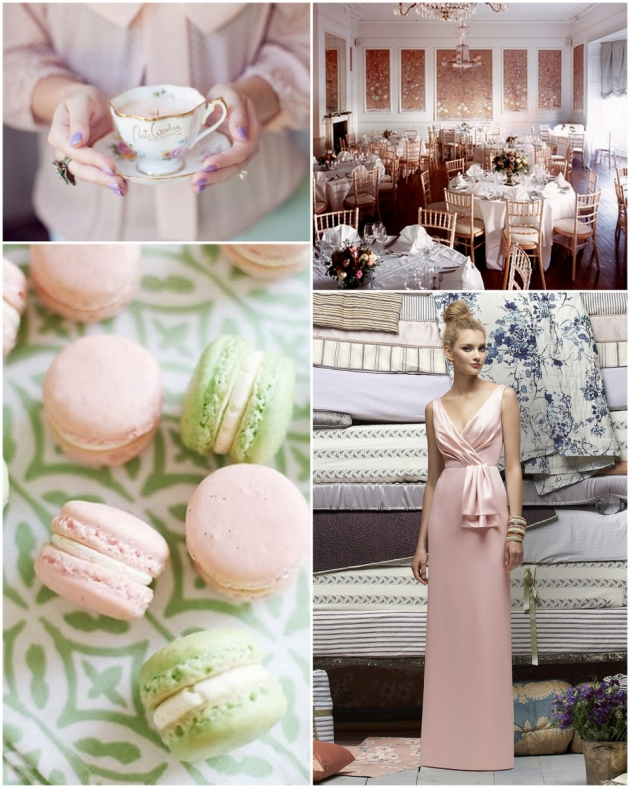 baby pink mint green wedding decor ideas