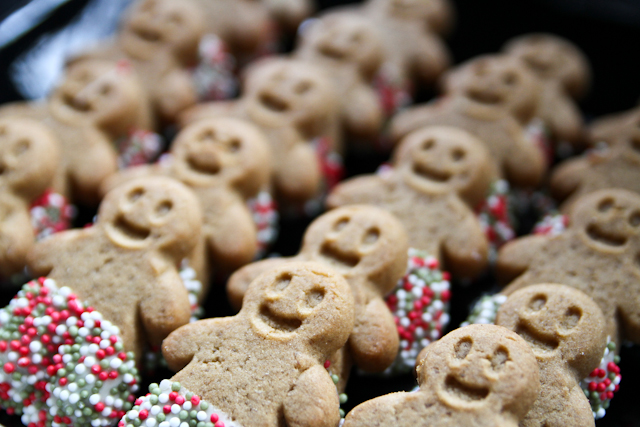 A photograph of gingerbread men taken by Stirling Photography