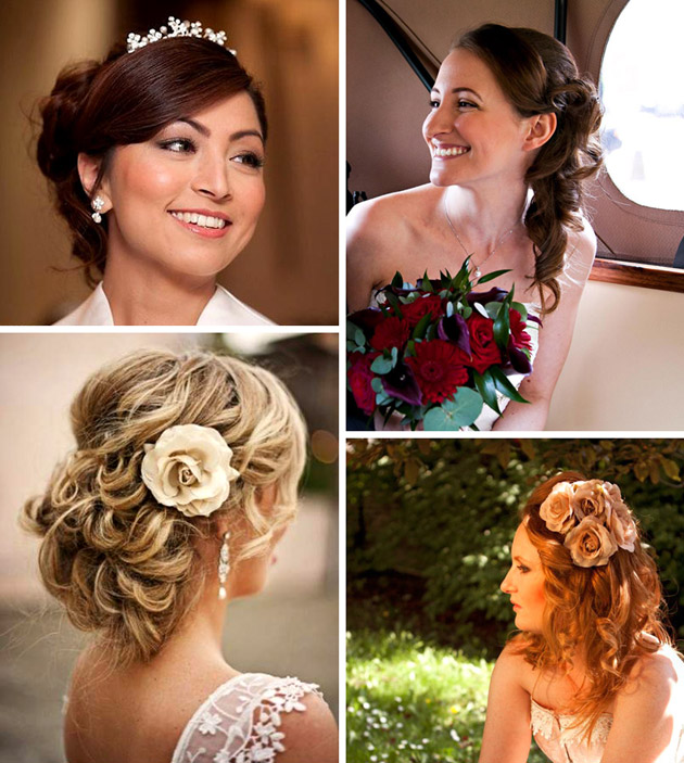 Flirty Bridal Hair