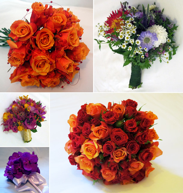 Autumn Bridal Bouquet Flowers
