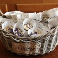 Basket of Wedding Confetti by JK Photography