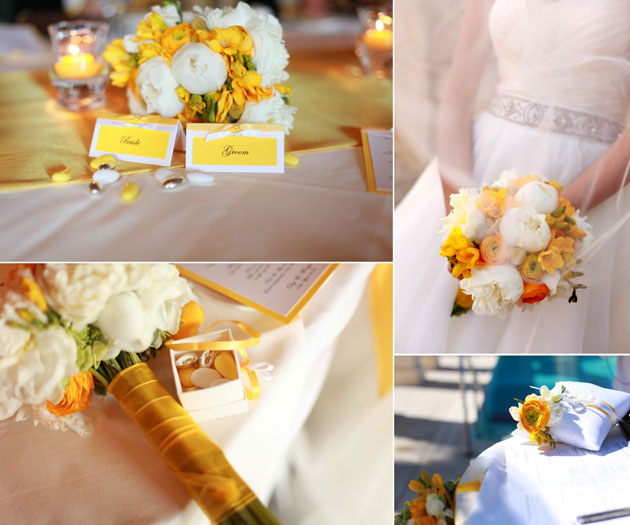 Weddings in Malta by Sarah Young Wedding Planner White and Yellow Bouquet