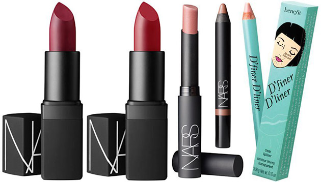 Lipsticks and Liners by NARS and Benefit