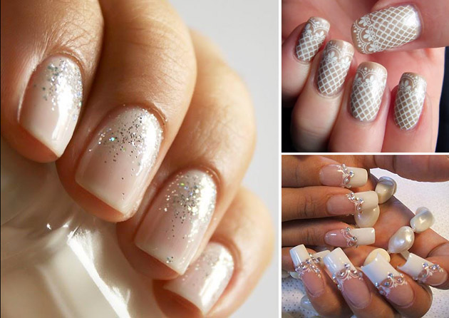 French Manicure Wedding Nail Art