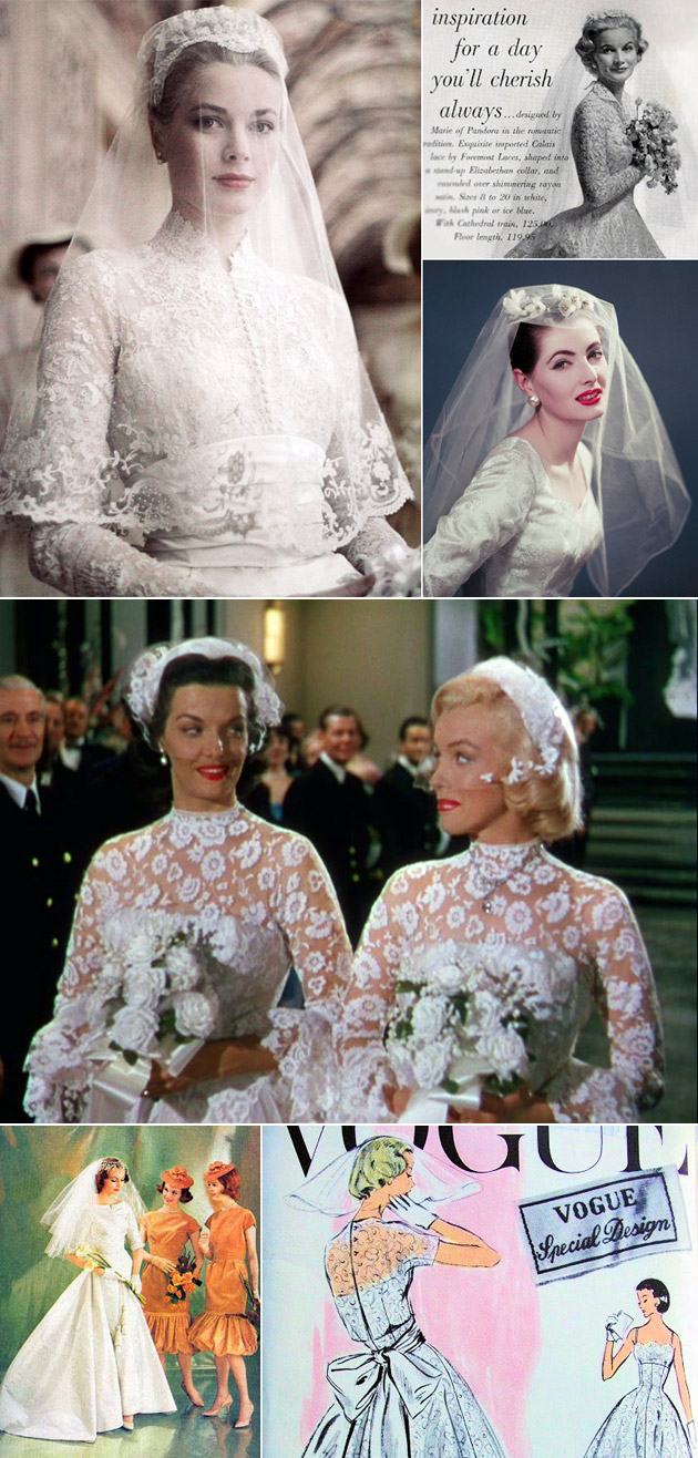 1950s Wedding Gowns & Veils