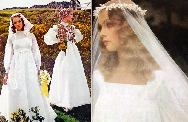 1970s Bridal Gowns & Veils