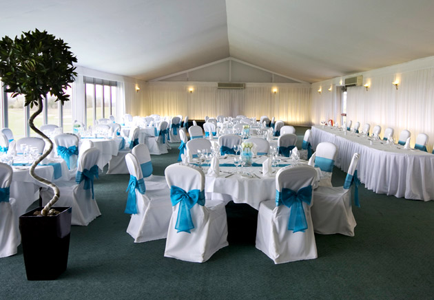 Celtic Manor Blue Themed Wedding Reception