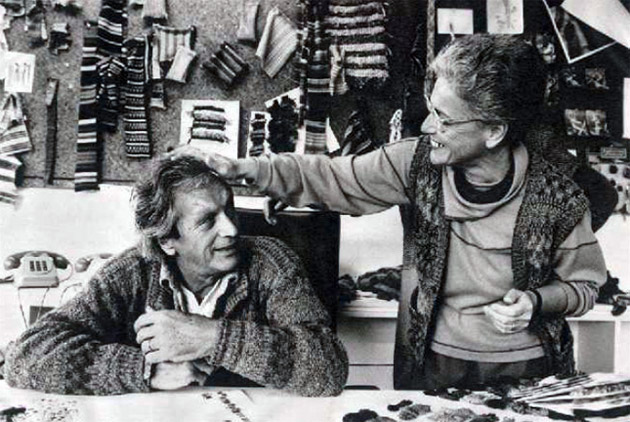 Ottavio Missoni and Rosita Jelmini