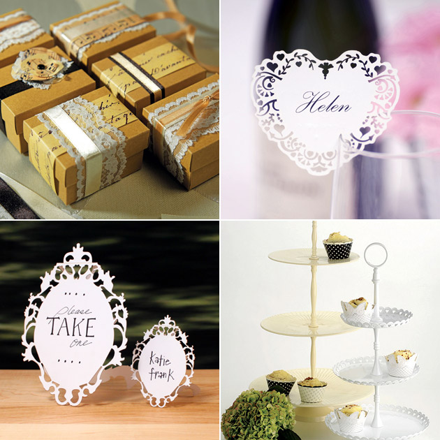 Vintage Style Wedding Decor at Confetti Shop