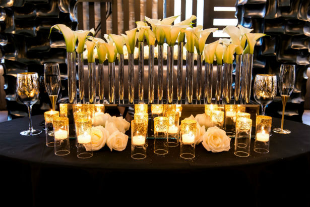 Art Deco lights and flowers