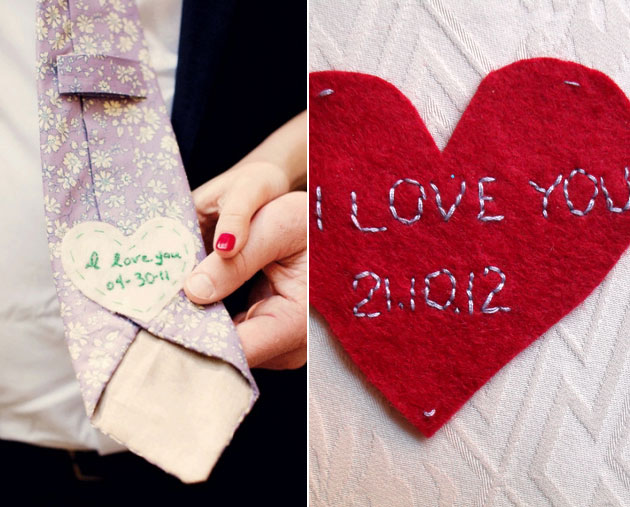 DIY Tie Heart for the Groom