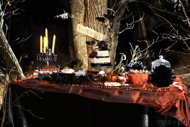 Halloween table by Ryan and Beth Photographers
