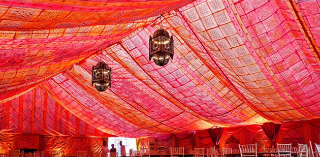 Bombay Boudoir Marquee Lining from Complete Chillout Company
