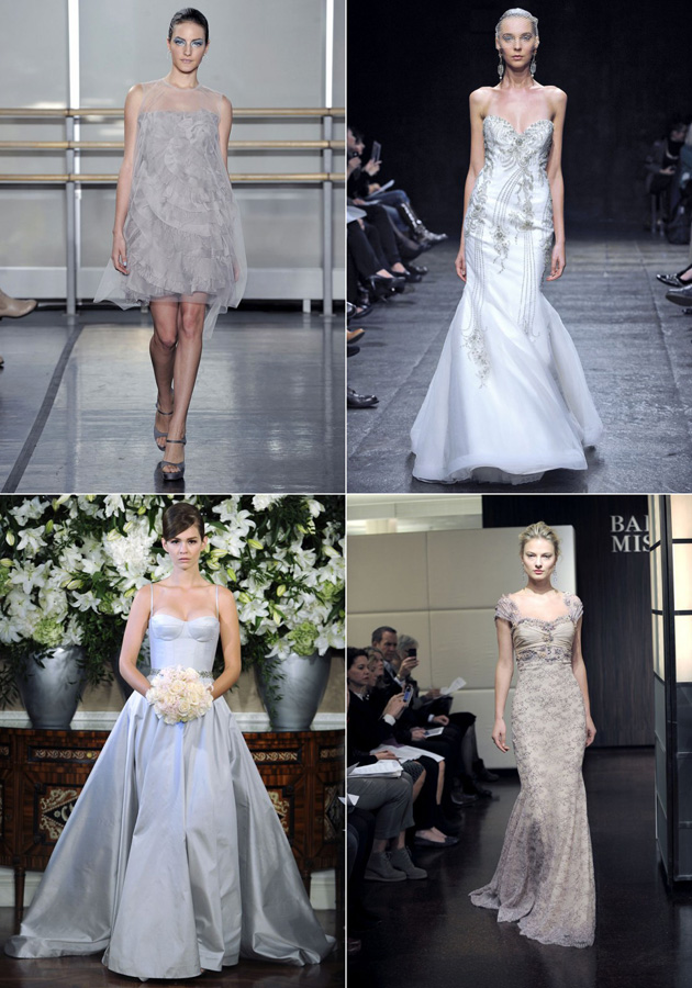 Silver Wedding Gowns Fall 2013