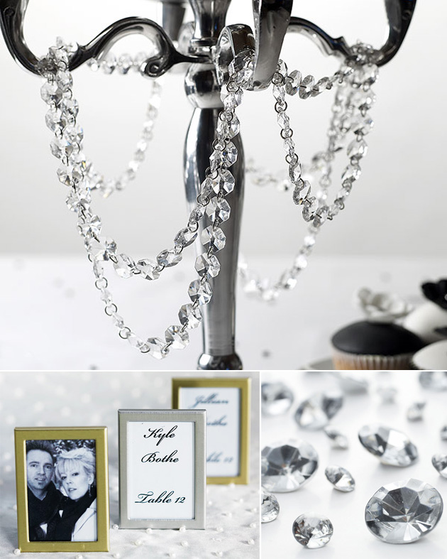 Silver Table Decor at the Confetti Shop