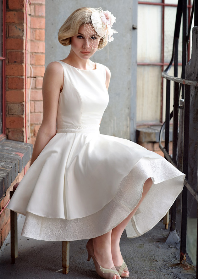 Tea-Length &amp Retro 1950s Wedding Dresses - Confetti.co.uk