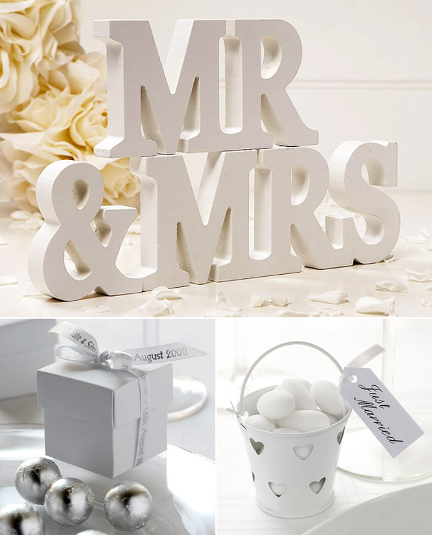 White Wedding Decor at the Confetti Shop