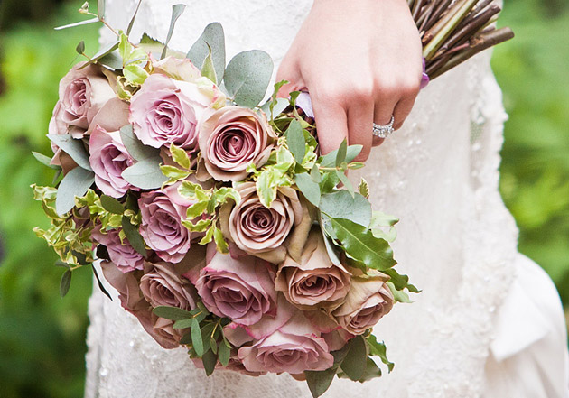 Tea Rose Wedding Bouquet