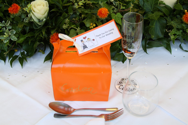 Orange favours box