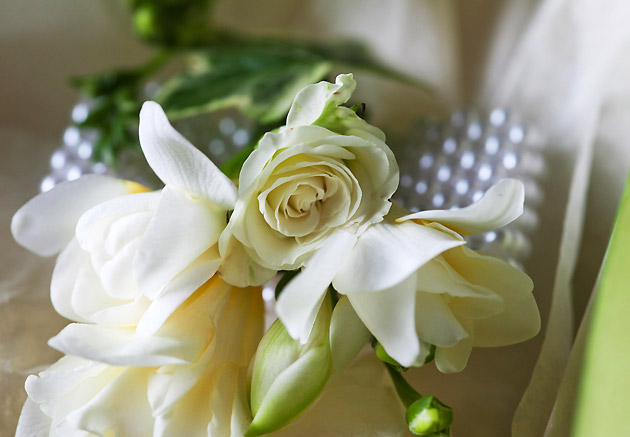 White Rose Wedding Corsage