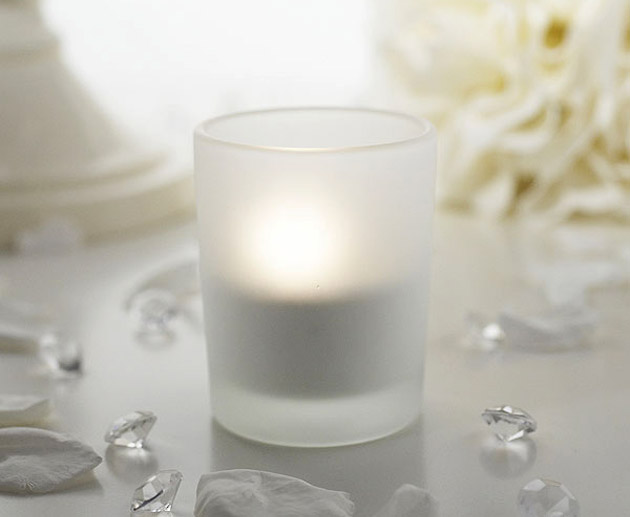 Frosted Tea Light Candle Holder at the Confetti Shop