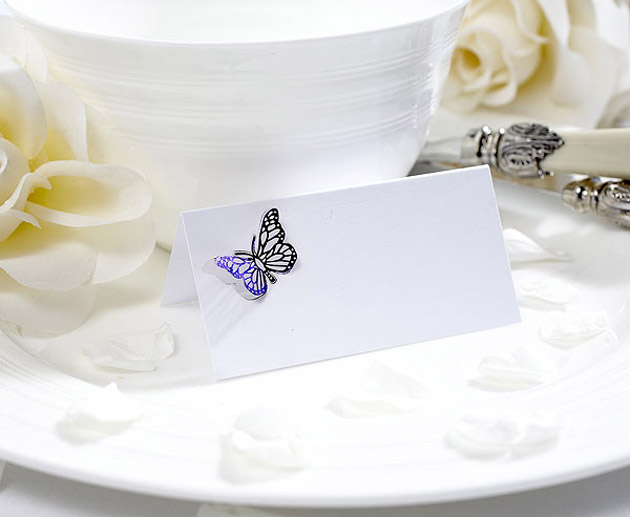 Lasercut Butterfly Place Cards at the Confetti Shop
