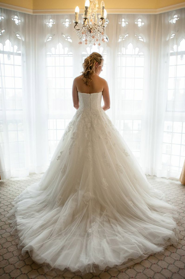Choosing a bridal train for What kind of wedding dress