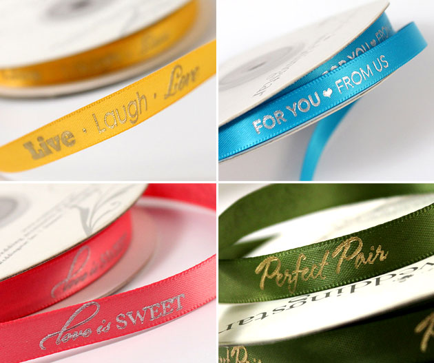 Personalised Ribbon at the Confetti Shop