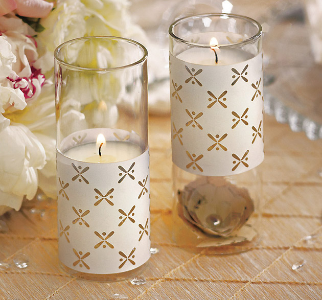 Ivory Wedding Candle Wrap